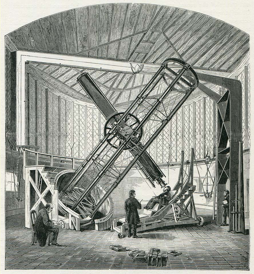 The Great Equatorial with the 12.8-inch Merz Refractor. Originally  published in the 1862 volume of The Leisure Hour 8580e82356
